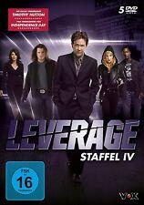 5 DVDs * LEVERAGE - STAFFEL 4 - STAFFEL IV # NEU OVP &