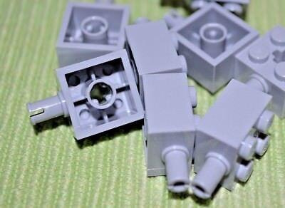 Lego 50 New Light Gray Bricks Round 1 x 1 Open Stud Cannonball Pirate Parts