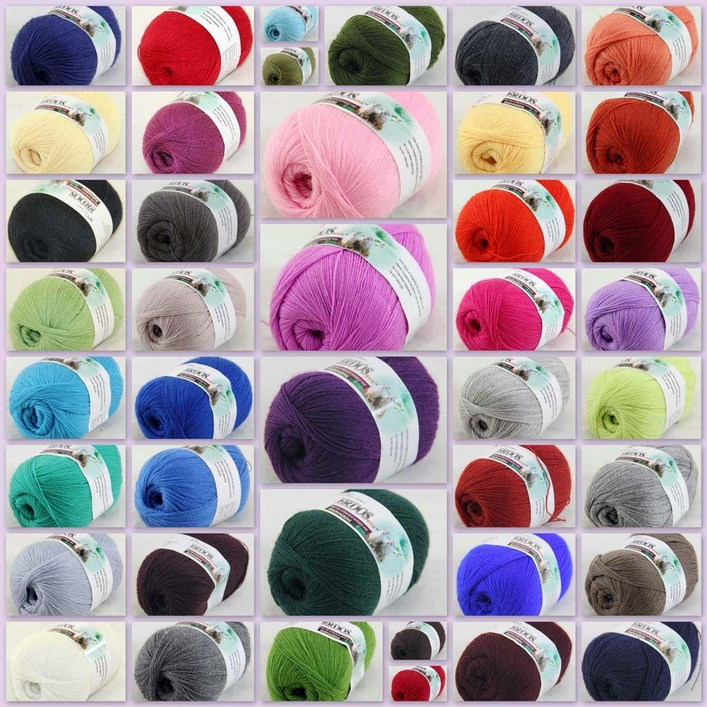Sale 1ball×50g Super Natural Smooth Bamboo Cotton Yarn Knitting 928 Light Silver