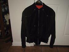 Harley Davidson Black Leather Suede Fringe Motorcycle Biker Jacket Womans XL