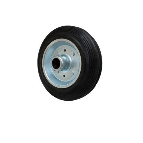 8 Stück 200 mm Transportgeräterollen Transportrolle als Lenkrolle Rad Vollgummi