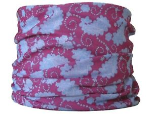 906a00589fe Gaiter Light Pink   Blue paisley Neck Tube Snood Ski Skiing Snow Hat ...