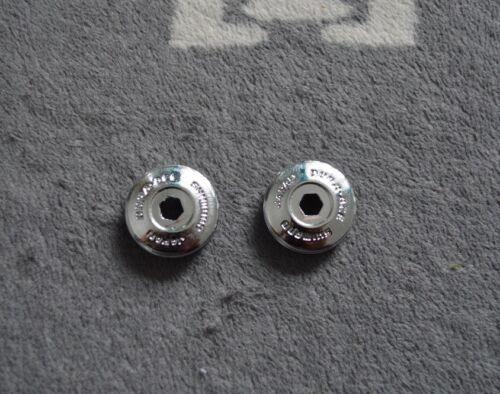 Dura Ace EX 7200 crankset dust caps vintage chrome plastik