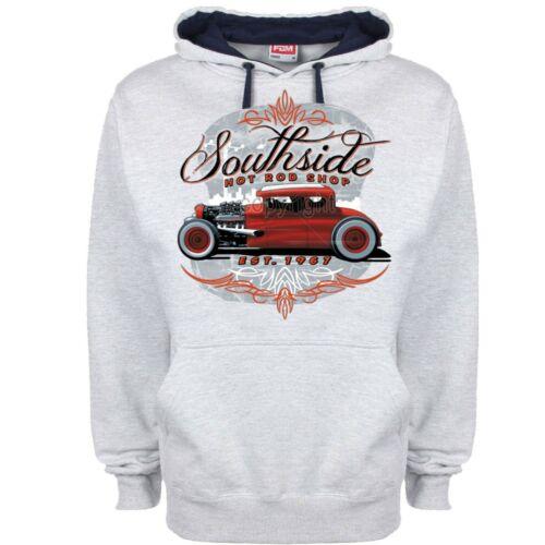 Hotrod 58 Hoodie Hoody Hot Rat Rod American v8 Vintage Southside Classic Car 57