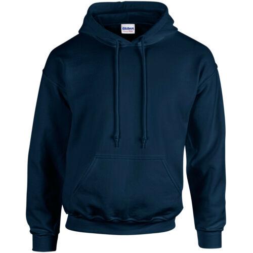 Medium Youth 7-8 Years Kids Gildan Hooded Sweatshirt GD057B Navy