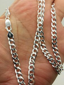 Image Is Loading 925 Sterling Silver Italian Solid Cuban Curb Link