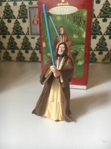 Navidad-Hallmark-Recuerdo-Star-Wars-antigua-OBI-WAN-KENOBI-Ornamento