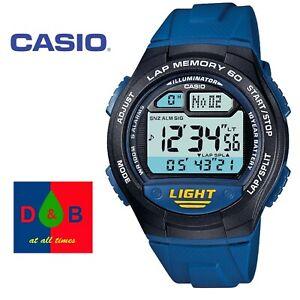 Casio-Collection-W-734-2AVEF-Boys-Ladies-Children-Blue-Lap-Memory-Running-Watch