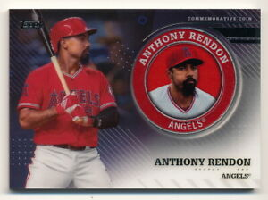 ANTHONY RENDON 2020 TOPPS SERIES 2 PLAYER MEDALLION COMMEMORATIVE COIN ANGELS