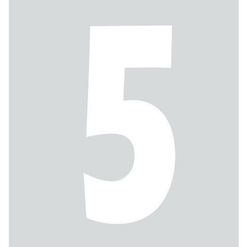 Bianco 5 Spell-It Numero adesivo 140x65 mm