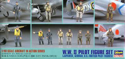 Hasegawa 1//48 WWII pilote Set Figure # X4807