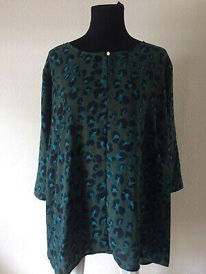 AVA /& VIV Women/'s Size 4X Color  Green Animal Print Blouse