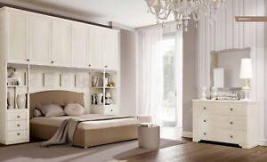 Camera matrimoniale a ponte con letto imbottito modello Beverly | eBay