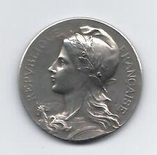 Republic Francaise Bronze Medal / Marianne 1911 Art Deco Nouveau By Rasumny M20b
