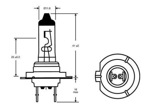 2x Bosch H7 Car Headlamp Dipped Beam Bulb 12V for Volvo V70 III 2007 /> 477//499