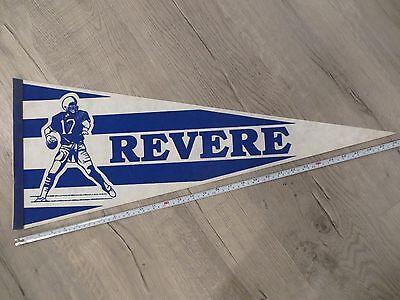 Winthrop Massachusetts High School Mass MA Vintage Felt Pennant Flag Football