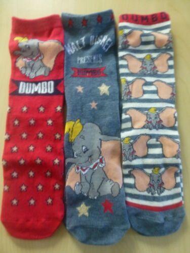 Disneys Dumbo Circus Film Socks 3 Three Pack Ladies SIZE 4-8 New GIRLS Gift