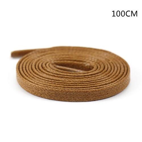 1Pair shoelaces flat round leather shoes shoe strings 80cm//100cm//120cm//150cm F$T