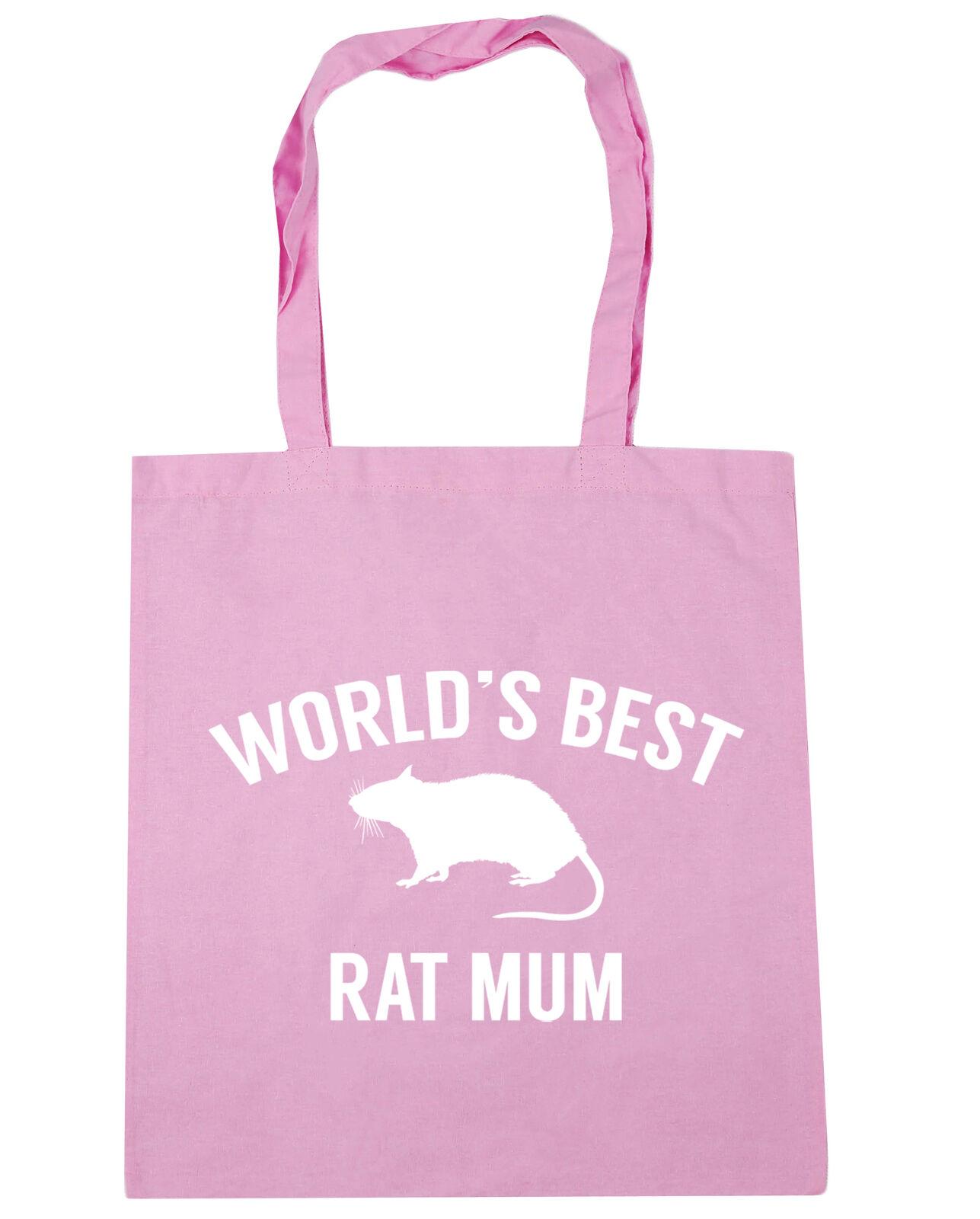 10 litres World/'s best rat mum Tote Shopping Gym Beach Bag 42cm x38cm