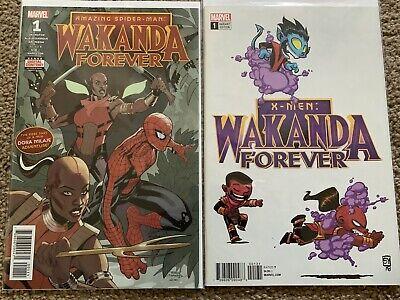 MARVEL 2018 1st Print COMIC WAKANDA FOREVER X-MEN #1