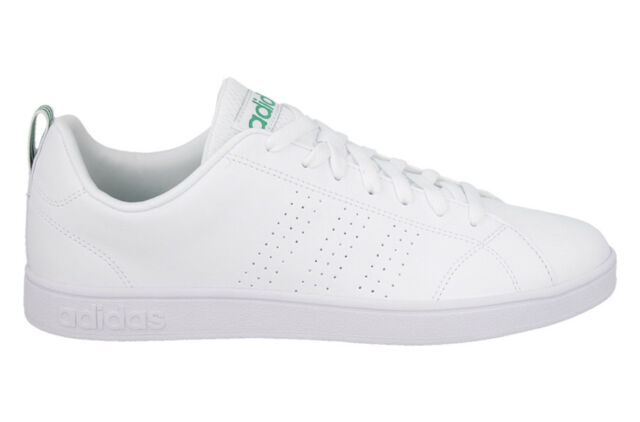 adidas Neo Label Advantage Clean VS White Green Mens Casual Shoes ... 2e8d84eee2adc