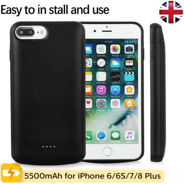 promo code 67b84 fc949 5800mAh Battery Charger Case Cover Backup Power Bank For iphone 5/6/6s/7/8  Plus