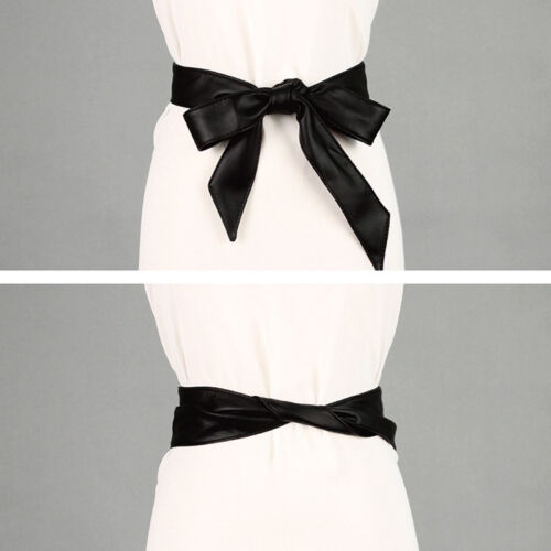 Women Stylish Long Bow Tie Satin Ribbon Waist Belt Corset Dress Sash Accessories