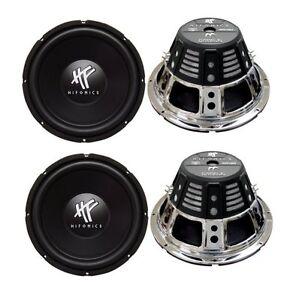 4-HIFONICS-HFX12D4-12-034-2400W-Car-Audio-DVC-Subwoofers-Power-Bass-Subwoofers