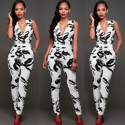 5f68bf5827 Summer Women Ladies Clubwear Playsuit Bodycon Party Jumpsuit Romper  Trousers New