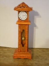 Doll House Grandfather Clock Wood 1:12 scale Miniature