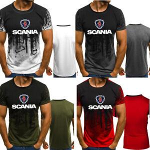 Newest-Scania-Truck-Logo-3D-Print-Men-039-s-T-shirt-Male-Short-Sleeve-Tee-Top-US-Sz