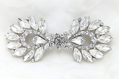 Bridal Rhinestone Wedding Bridal Closure Crystal Hook and Eye Clasp DIY
