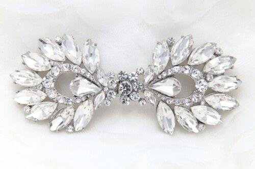 Bridal Rhinestone Wedding Bridal Closure Crystal Hook and Eye Clasp DIY
