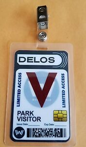 Details about Westworld ID Badge - Park Visitor prop cosplay costume