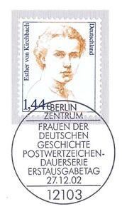 Rfa 2002: Esther De Kirchbach Nº 2297 Avec De Berlin Ersttags-cachet Spécial! 1a!-rstempel! 1a!afficher Le Titre D'origine