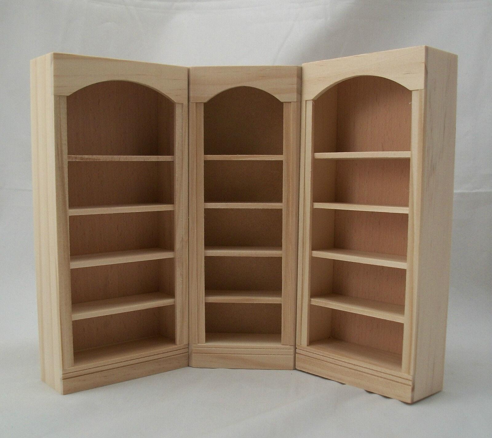 Corner Bookcase 5026 Dollhouse Miniature 1 12 Scale