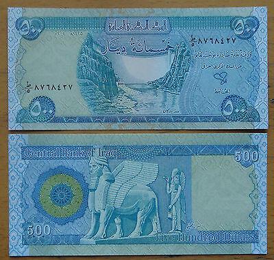 IRAQ 500 DINARS NEW CURRENCY 2003 UNC