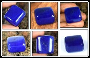 Cabochon Tumble 120.15 Ct African Blue Sapphire Natural Gemstone