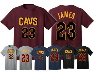 db923b88ab07 Cleveland Cavaliers Lebron James Jersey Men s T Shirt MVP king team ...