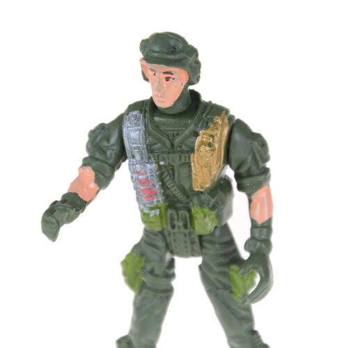 1pc 9cm Paratroopers Parachute Soldiers Miniatures Military Figures Model Toy CR