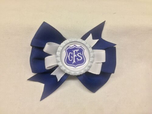 Any School Personalised School Logo Hair Bow Clips Back To School
