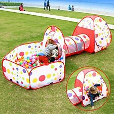 Pop up Kids Play Tent Tunnel Ball Pit Playhouse Indoor Outdoor Toy Playground
