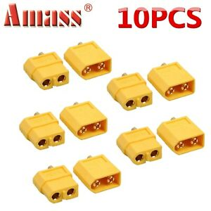 5 Pairs XT-60 XT60 Male Female Gold Plated Bullet Connectors RC Lipo Power Plugs