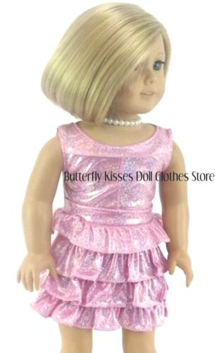 Jacket Metallic Ruffle Dress Pearls 18 in Doll Clothes Fits American Girl