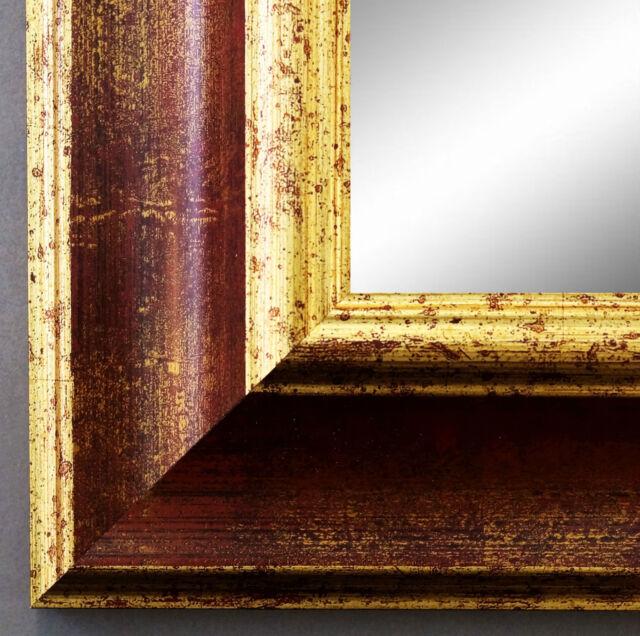 Spiegel Wandspiegel Badspiegel Flurspiegel Antik Barock Shabby Acta Rot Gold 6,7