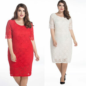 US plus size 2-30 women s dress lace party evening everyday summer ... a8579abb1763