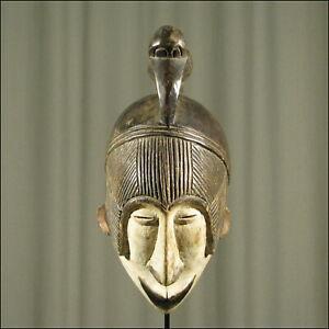 59970) Afrikanische Holz Maske Ibo Nigeria Afrika KUNST