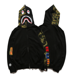BAPE Men A Bathing Ape Full Zip Hoodie Sweater Star Space Shark Head Jacket Coat