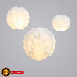 modern le klint led pendant light white plastic shade suspension