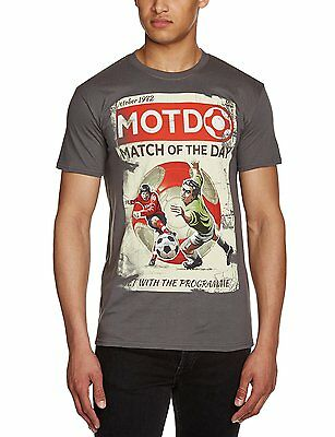 Official BBC Sport Boy/'s Match of the Day T Shirt 100/% Cotton
